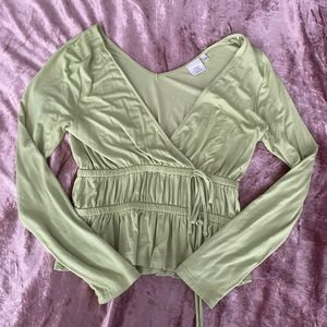 Green Ruched Top